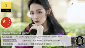 Dilireba Makes it To TC Candler's Top 10 Most Beautiful Faces in Asia 2020!