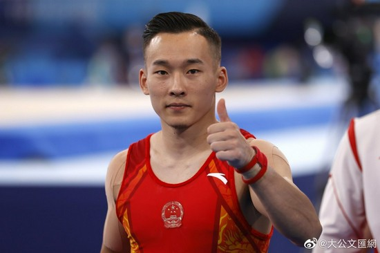 Huang Zitao voiced support for Xiao Ruoteng the Chinese gymnast was edged out and was awarded a Silver Medal due to his f